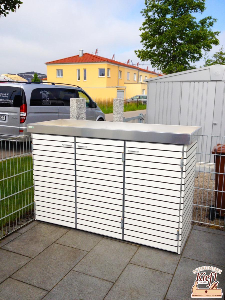 Mülltonnenhaus für 3 Tonnen inkl. Pflanzwanne